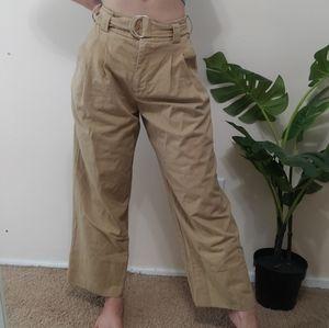 Highwaisted pleated wide leg pants